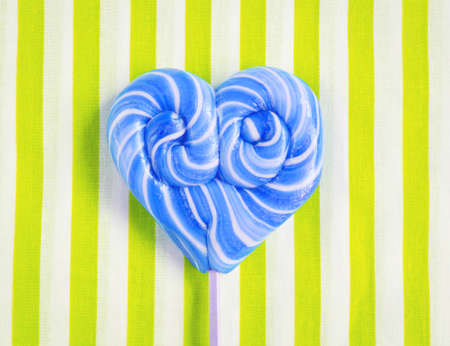 One blue heart shaped lollipop for Valentines Day