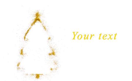 New Year greeting card with a tree Фото со стока