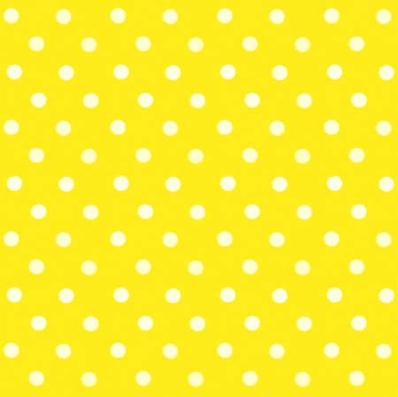 White polka dots on yellow textile background