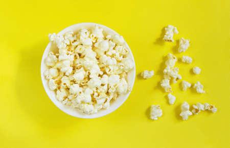 White fluffy movie theater popcorn Фото со стока