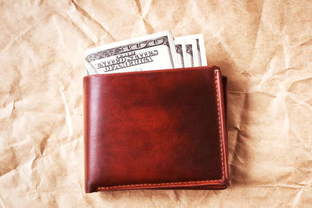 Four hundred dollars in leather wallet