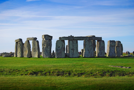 Stonehenge - one of the wonders of the world and the best-known prehistoric monument in Europe Stock Photo