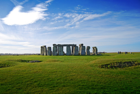 megaliths: Stonehenge - one of the wonders of the world and the best-known prehistoric monument in Europe Stock Photo