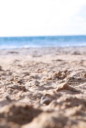 Sand closeup - Summer by the sea Imagens
