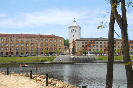 Jelgava, Latvia - July 12, 2014: The quiet boulevard regained its splendour in 2012. Jāņa Čakstes Boulevard was completely rebuilt.