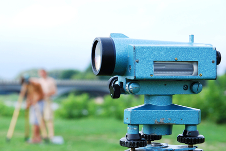 Instrument used for land surveying Stock Photo