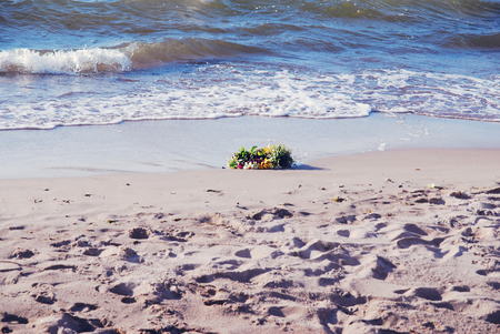 Wreath washed up from a sea Stok Fotoğraf - 88990715