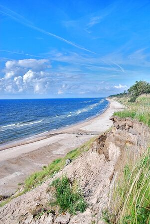 Seaside in summer. Baltic sea in Latvia