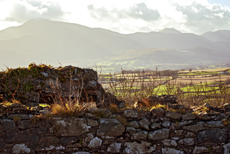A scenic view from Dundrum Castle ruins Imagens