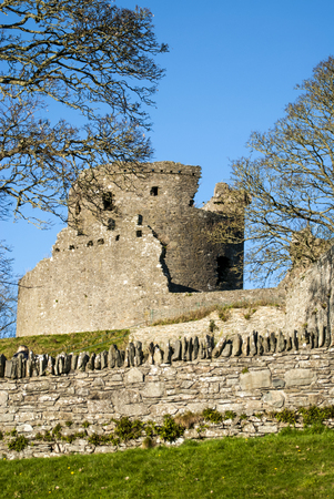 DUNDRUM - NORTHERN IRELAND - NOVEMBER 11, 2017 - Dundrum Castle ruins. Situated above the town of Dundrum, County Down in Northern Ireland. Editorial