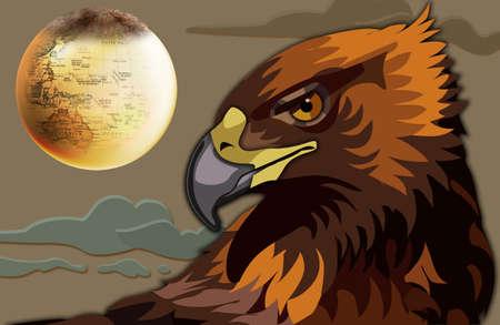 The eagle and Earth photo