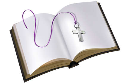 A nice picture with a book and a cross on it Stock Photo - 4446185
