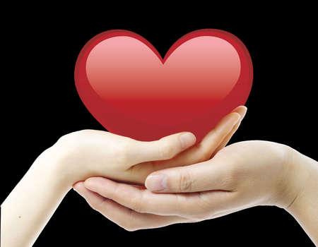 Nizza, cuore rosso e due mani