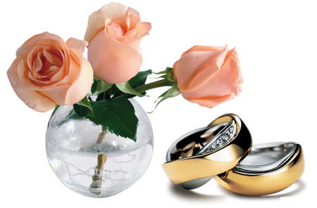Nice beautiful situation from the roses and rings photo