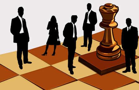 gamesmanship: Aqu� puede ver una figura de la reina y la gente  Foto de archivo