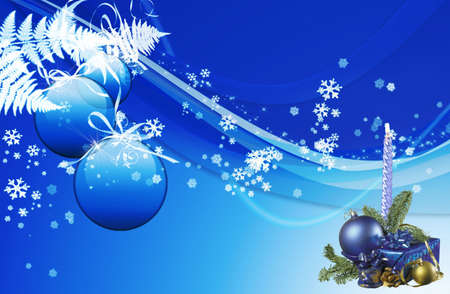 Here you can see a candle on the nice christmas background Stock Photo - 6348450