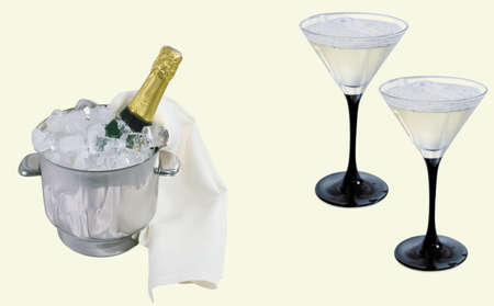 Here you can see Christmas decoration with champaign and glasses Stock Photo - 6348727