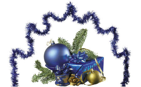 Here you can see nice Christmas ornaments for yoyr design Stock Photo