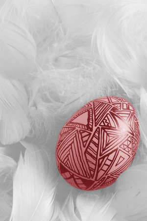 A red egg for your Easter design Stock Photo