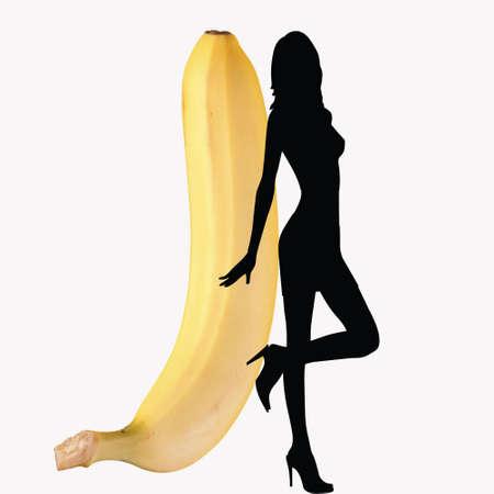 A sexy girl with a big banana