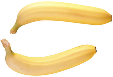 Nice sweet bananas on the white background Stock Photo