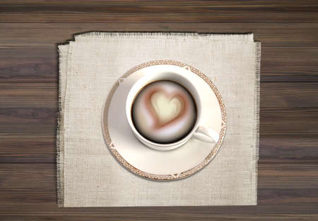 A cup of coffee for them who are in love Stock Photo