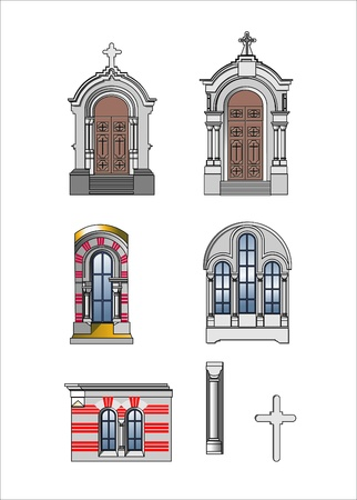 architect elements of castle Stock Vector - 9608260