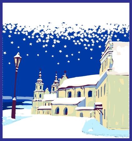 winter in town Stock Vector - 9608272