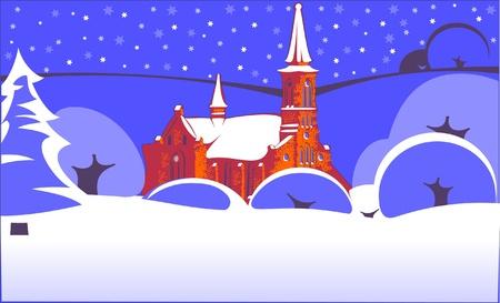 christmas village Stock Vector - 9608275