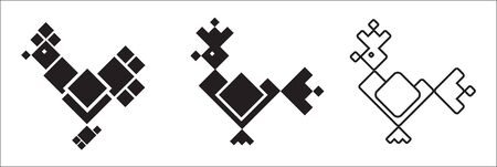 Symbols of Cock Stock Vector - 9608264