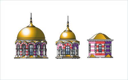 教会のドーム  イラスト・ベクター素材