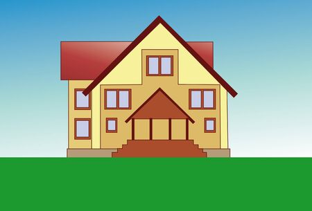 Drawed house Stock Vector - 9608263