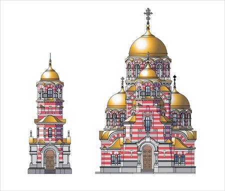 orthodox castle Stock Vector - 9650363