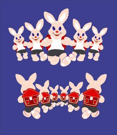 Bunnies running