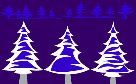 Winter fir-trees Vector