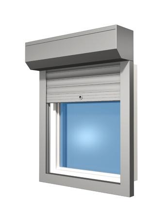 窓シャッター システム構築 写真素材