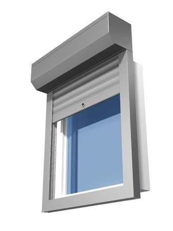window shutter system construction Stock Photo