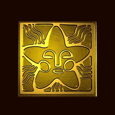 Symbol of the sun in bronze