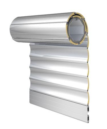 la construction du système d'obturation fenêtre Banque d'images