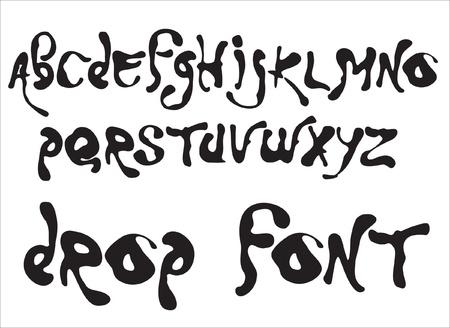 letter liquid water: Vector alfabeto caída