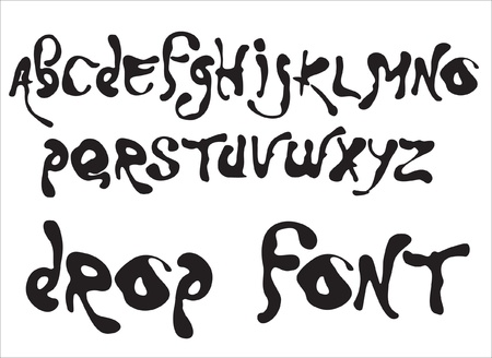 Vector drop alphabet