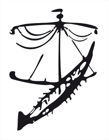 ancient boat Vector