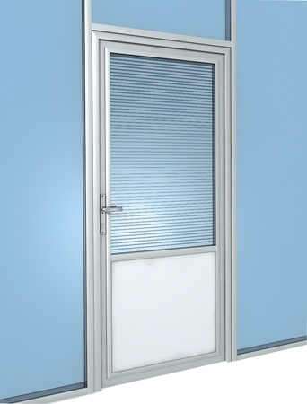 glass partition: office door construction