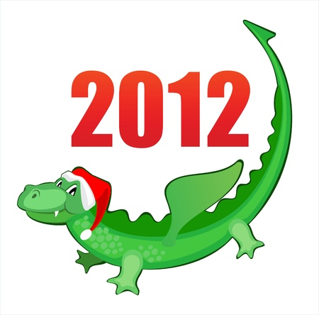 illustration new years merry dragon Vector