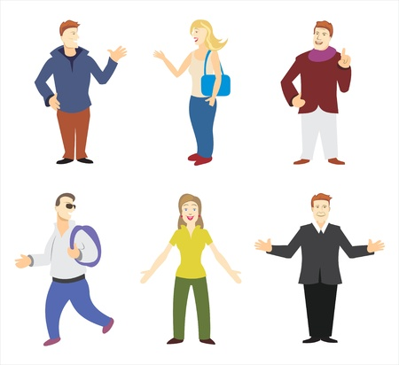 Collection of many people Vector