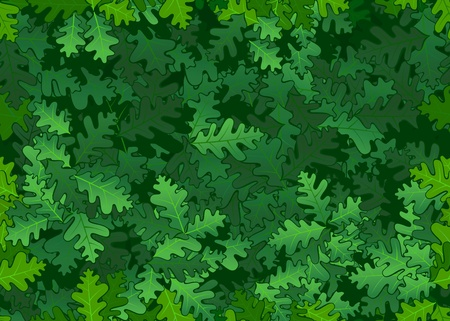 Oak leaves seamless texture Illustration