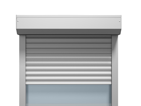 Window with roller shutter three dimensional render