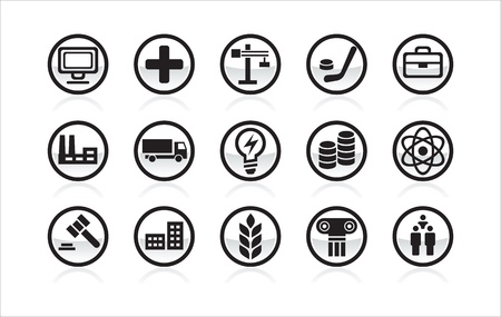 Vector icon different themes Stock Vector - 13403874