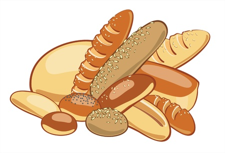 bun: Bread  Vector illustration