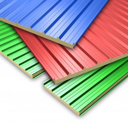 3 色の屋根のパネル